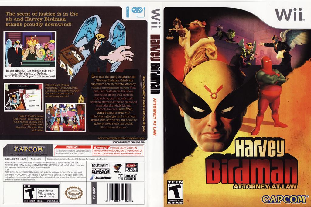 Harvey Birdman: Attorney at Law Wii coverfullHQ (RGBE08)