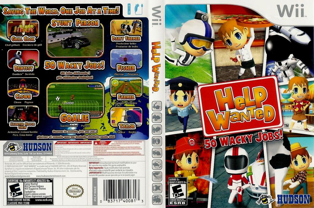 Help Wanted: 50 Wacky Jobs Wii coverfullHQ (RHKE18)