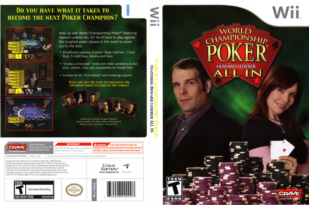 World Championship Poker Featuring Howard Lederer: All-In Wii coverfullHQ (RHLE4Z)