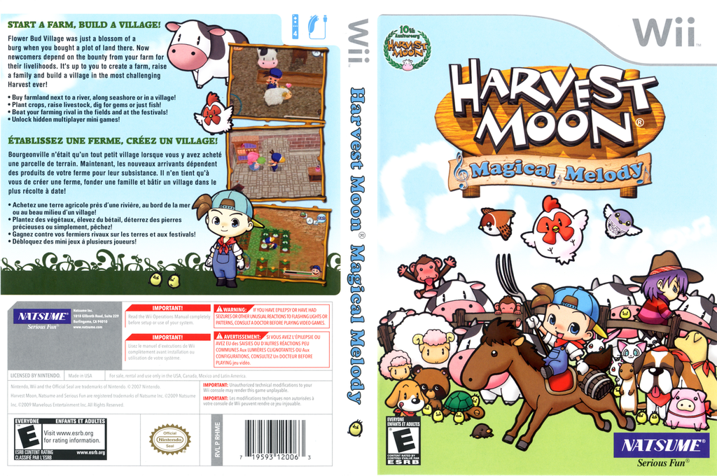 Harvest Moon: Magical Melody Wii coverfullHQ (RHMEE9)