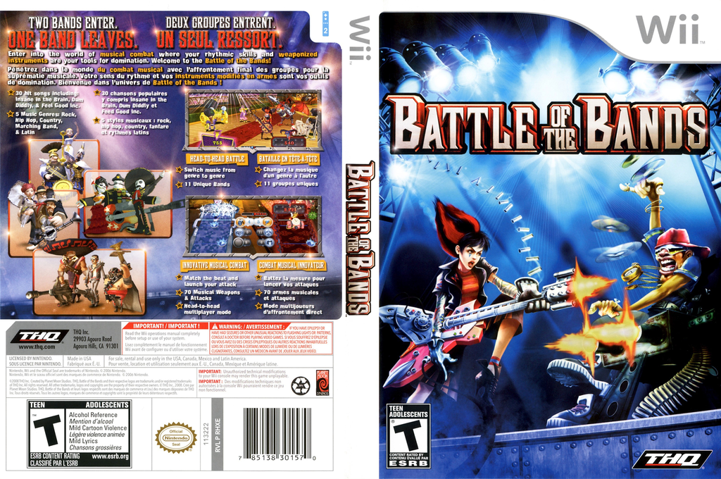 Battle of the Bands Wii coverfullHQ (RHXE78)