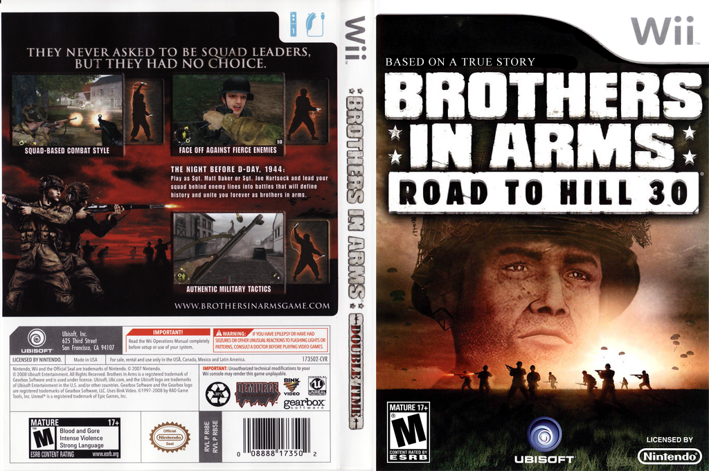 Brothers In Arms: Road to Hill 30 Wii coverfullHQ (RI8E41)