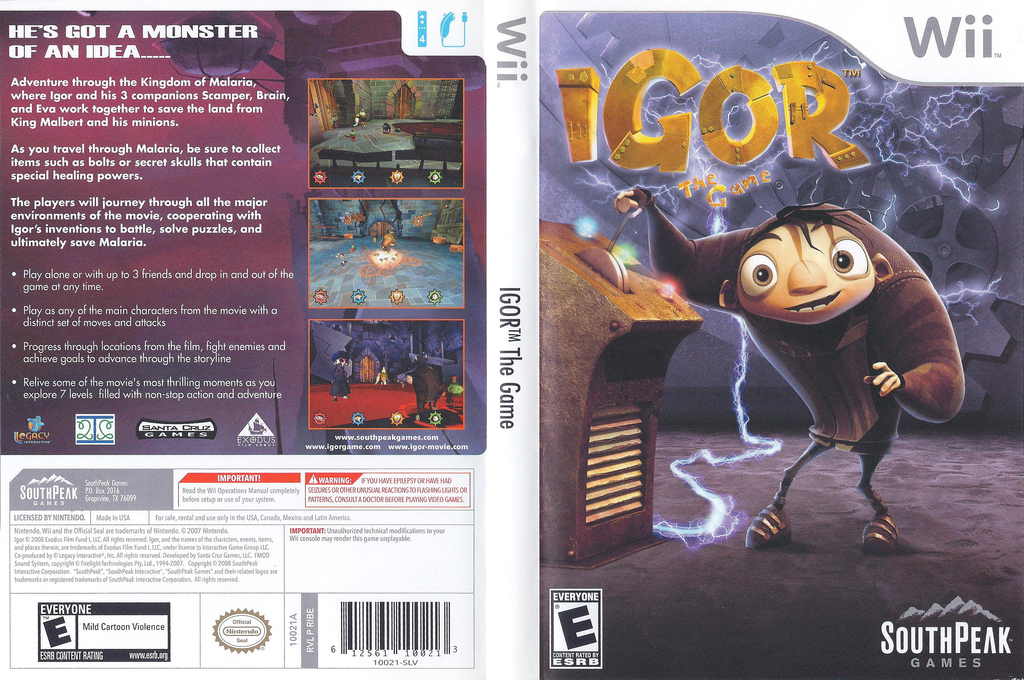 Igor the Game Wii coverfullHQ (RIBES5)