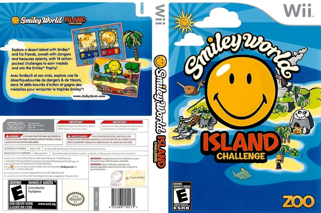 Smiley World: Island Challenge Wii coverfullHQ (RIDE20)