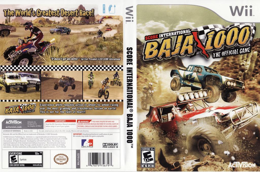 Score International Baja 1000: World Championship Offroad Racing Wii coverfullHQ (RJCE52)