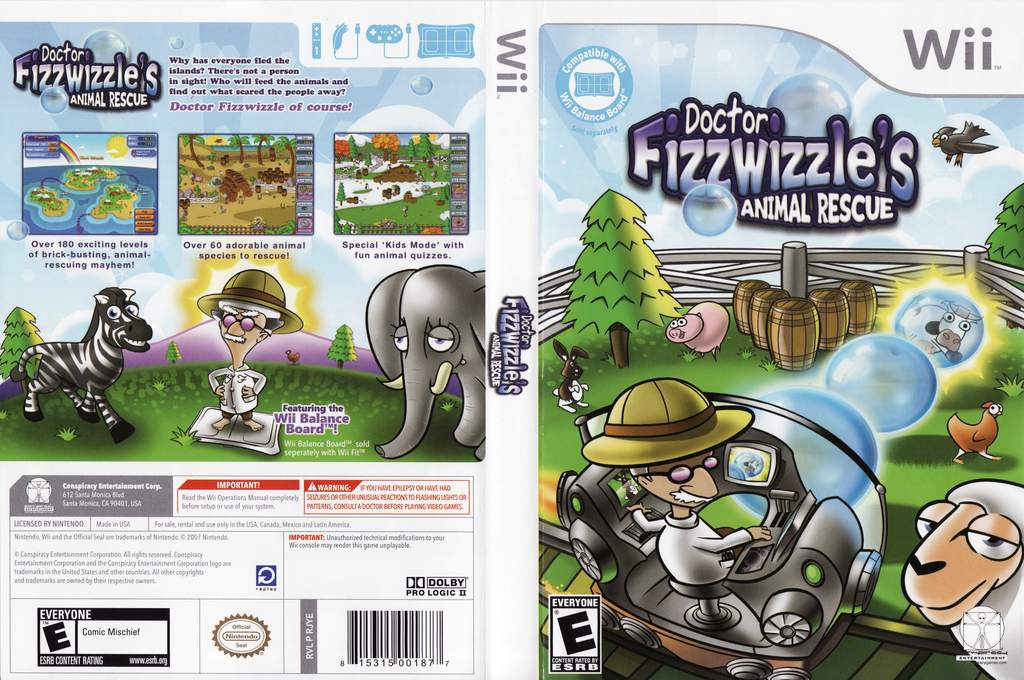 Doctor Fizzwizzle's Animal Rescue Wii coverfullHQ (RJYE5Z)