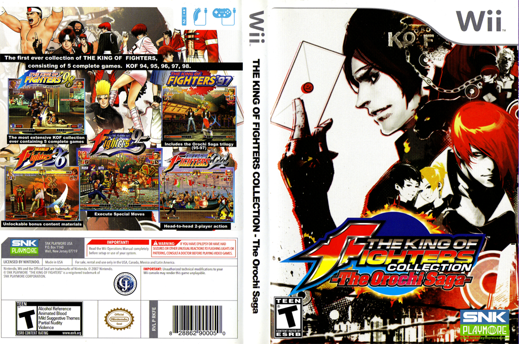 The King of Fighters Collection: The Orochi Saga Wii coverfullHQ (RKFEH4)