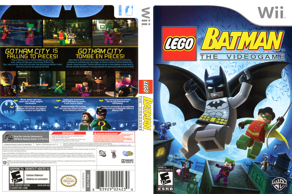 LEGO Batman: The Videogame Wii coverfullHQ (RLBEWR)