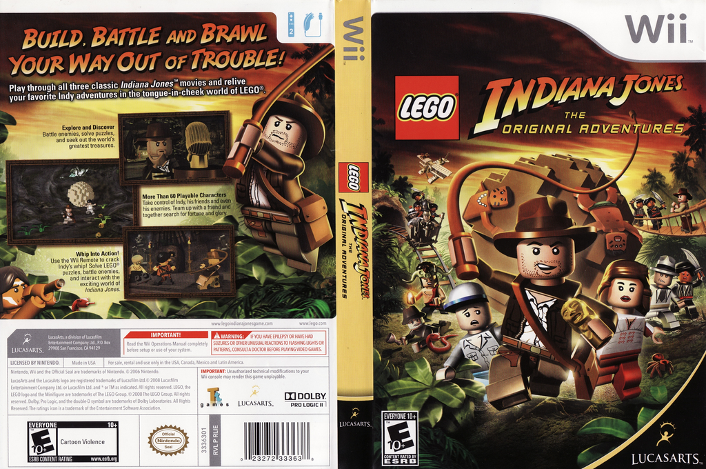 LEGO Indiana Jones: The Original Adventures Wii coverfullHQ (RLIE64)