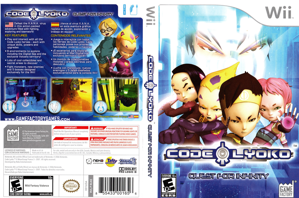 Code Lyoko: Quest for Infinity Wii coverfullHQ (RLKEGY)