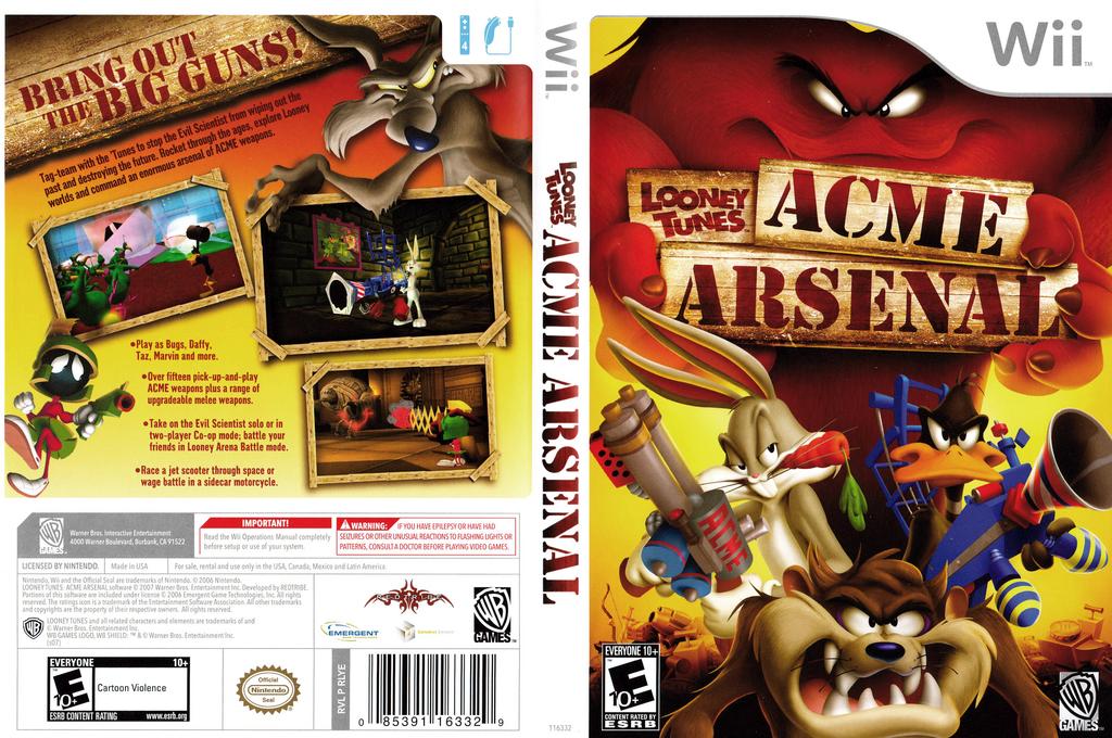 Looney Tunes: Acme Arsenal Wii coverfullHQ (RLYEWR)
