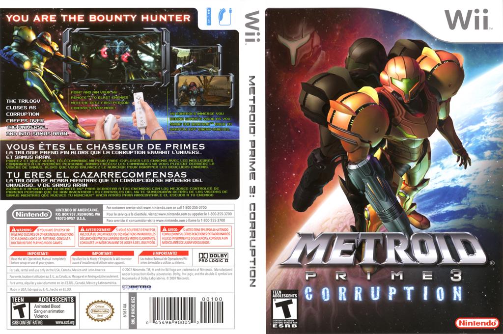 Metroid Prime 3: Corruption Wii coverfullHQ (RM3E01)