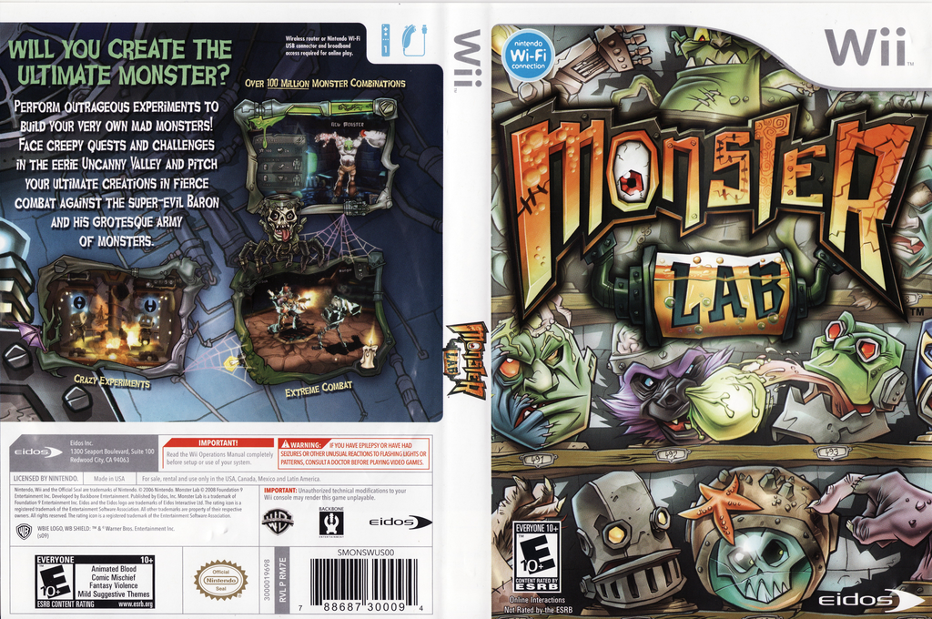 Monster Lab Wii coverfullHQ (RM7E4F)