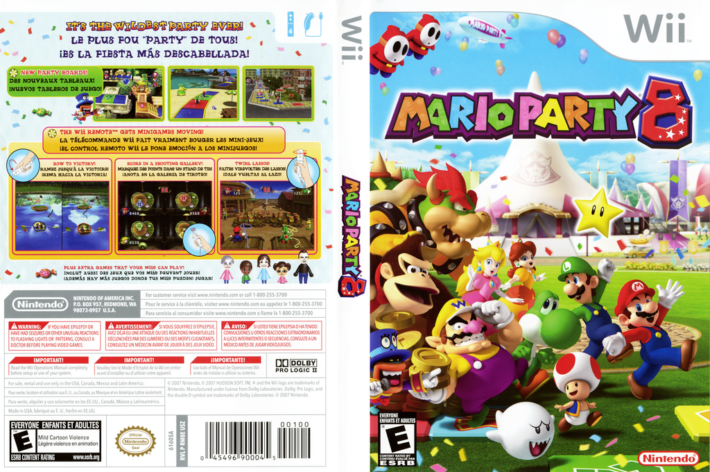 Mario Party 8 Wii coverfullHQ (RM8E01)