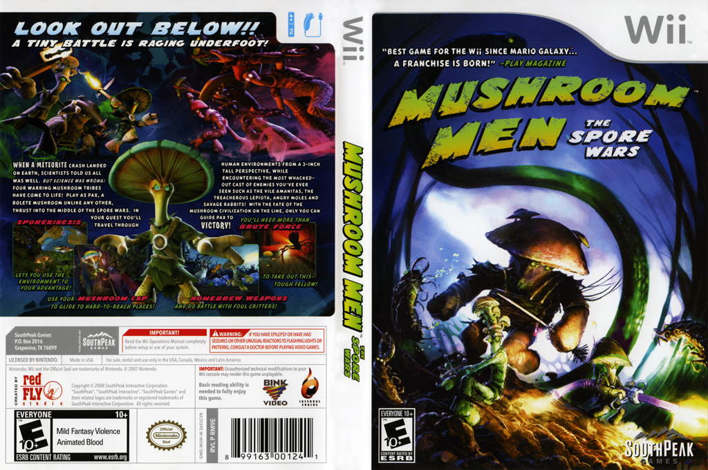 Mushroom Men: The Spore Wars Wii coverfullHQ (RM9EGM)
