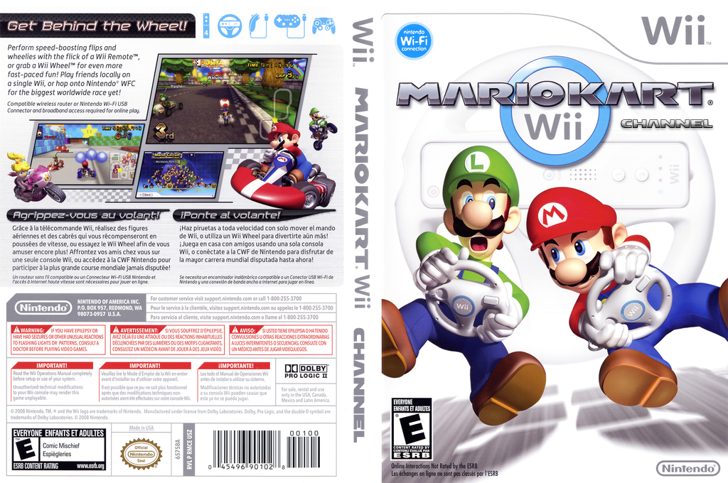 Mario Kart Channel Wii coverfullHQ (RMCE)