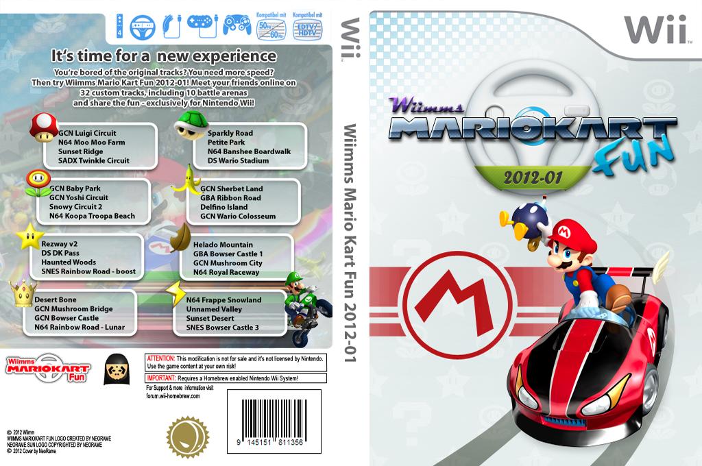 Wiimms MKW Fun 2012-01.ntsc Wii coverfullHQ (RMCE13)