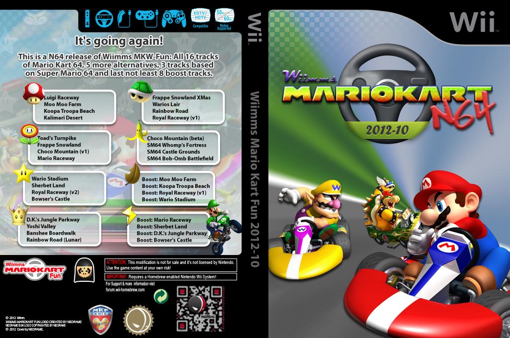 Wiimms MKW N64 2012-10.ntsc Wii coverfullHQ (RMCE18)