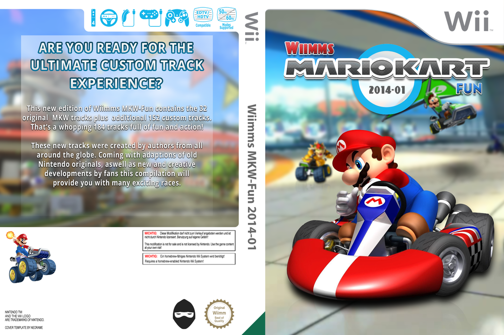 Wiimms MKW Fun 2014-01.ntsc Wii coverfullHQ (RMCE23)