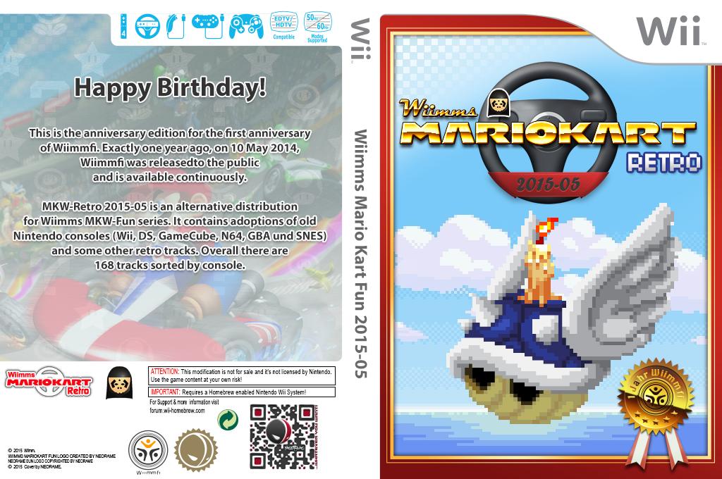 Wiimms MKW Retro 2015-05.ntsc Wii coverfullHQ (RMCE28)