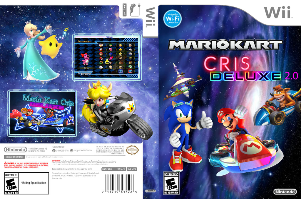 MARIO KART CRIS DELUXE Wii coverfullHQ (RMCE54)