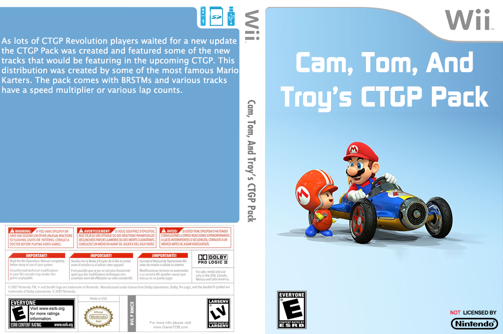 Cam, Tom and Troy's CTGP Pack Wii coverfullHQ (RMCE75)