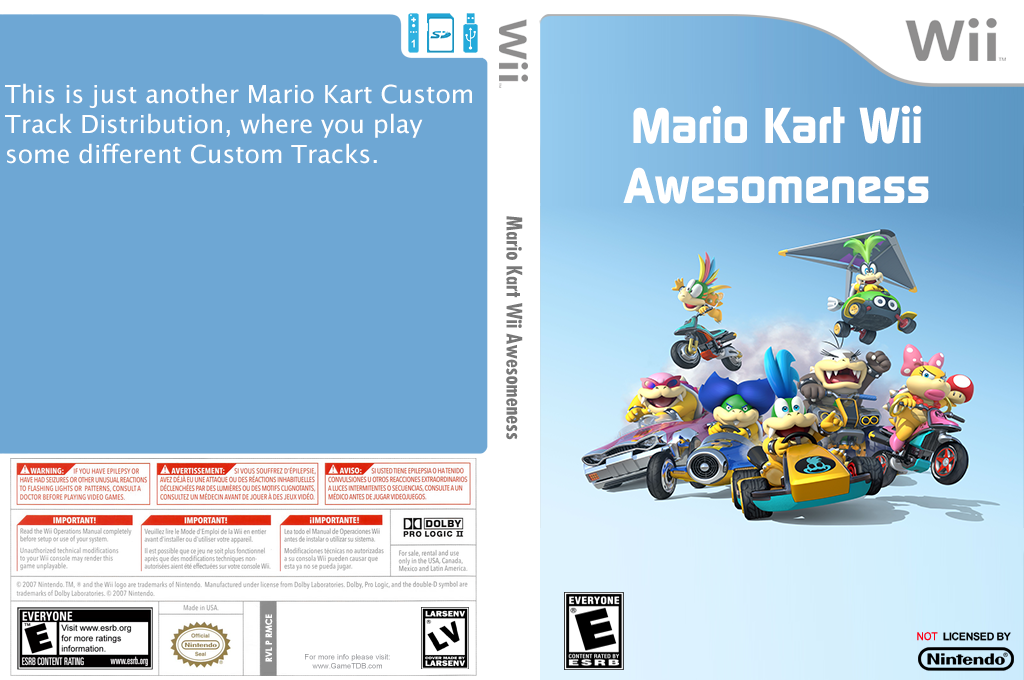 Mario Kart Wii Awesomeness Wii coverfullHQ (RMCE98)