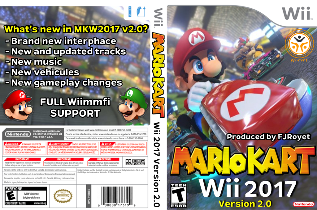 Mario Kart Wii 2017 - Version 2.0 Wii coverfullHQ (RMCEB2)