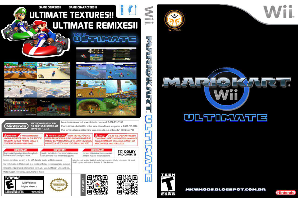 Mario Kart Wii Ultimate Wii coverfullHQ (RMCEW6)