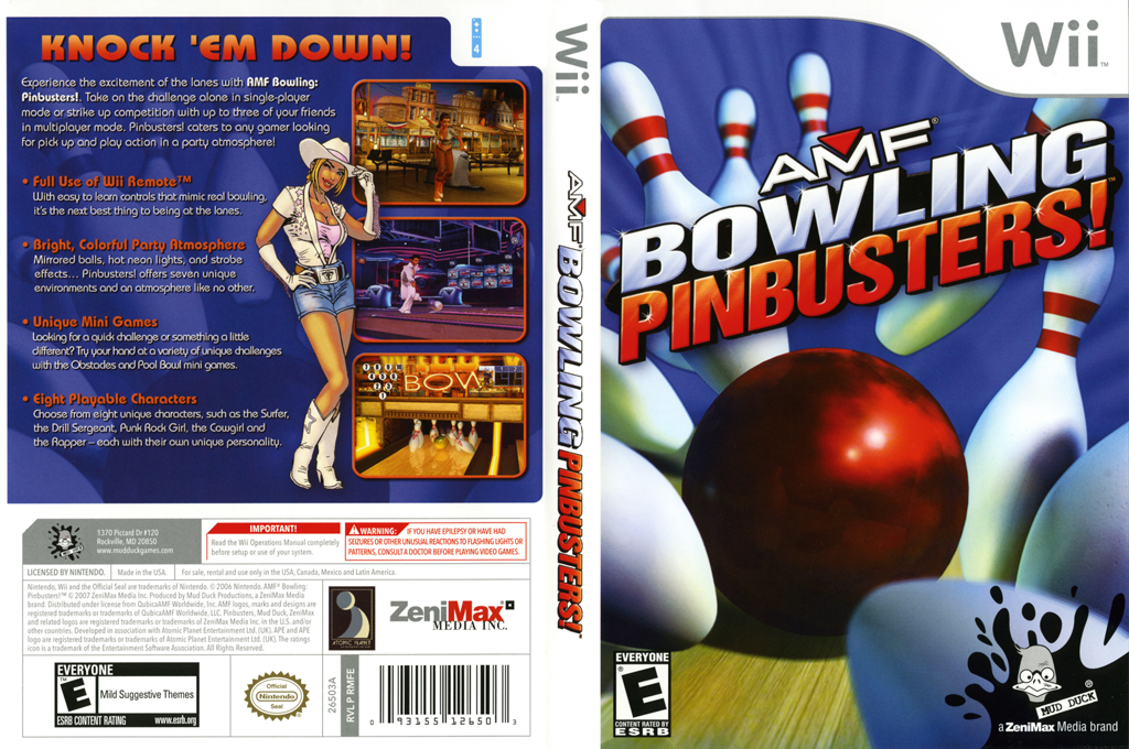 AMF Bowling Pinbusters! Wii coverfullHQ (RMFE68)