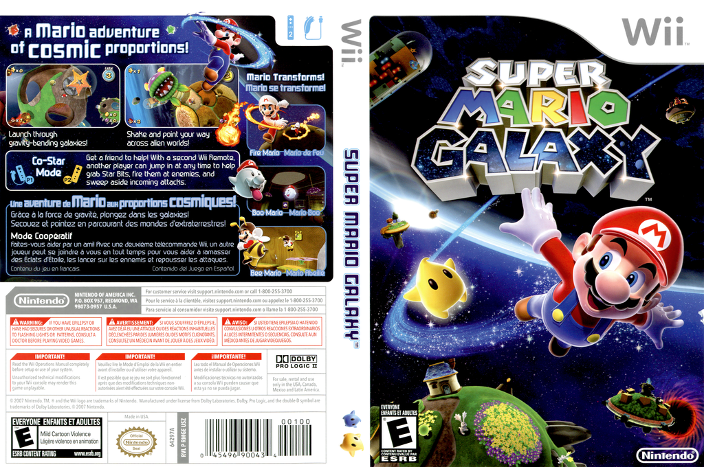 Super Mario Galaxy Wii coverfullHQ (RMGE01)