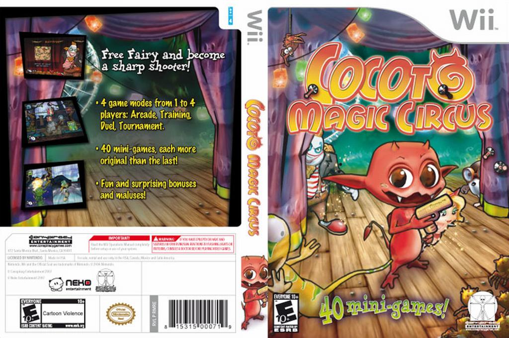Cocoto Magic Circus Wii coverfullHQ (RMRE5Z)