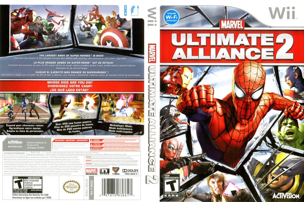 Marvel: Ultimate Alliance 2 Wii coverfullHQ (RMSE52)