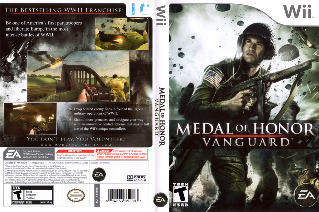 Medal of Honor: Vanguard Wii coverfullHQ (RMVE69)