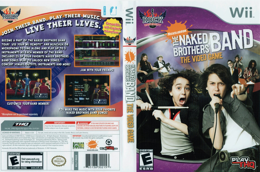 Rn5E78 - The Naked Brothers Band The Video Game-5668