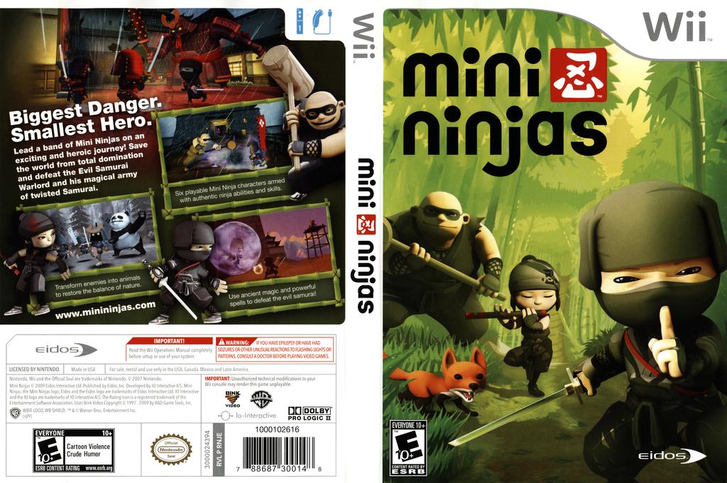 Mini Ninjas Wii coverfullHQ (RNJE4F)