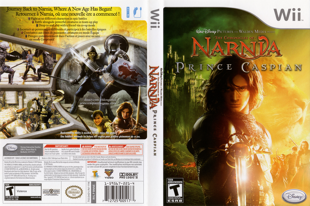 The Chronicles of Narnia: Prince Caspian Wii coverfullHQ (RNNE4Q)