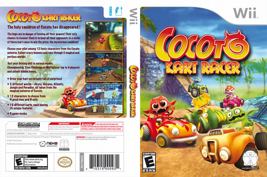 Cocoto Kart Racer Wii coverfullHQ (ROCE5Z)