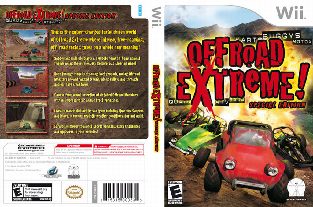 Offroad Extreme! Special Edition Wii coverfullHQ (ROFE5Z)