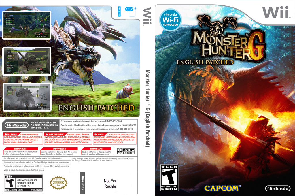 Monster Hunter G (English Patched) Wii coverfullHQ (ROMESD)