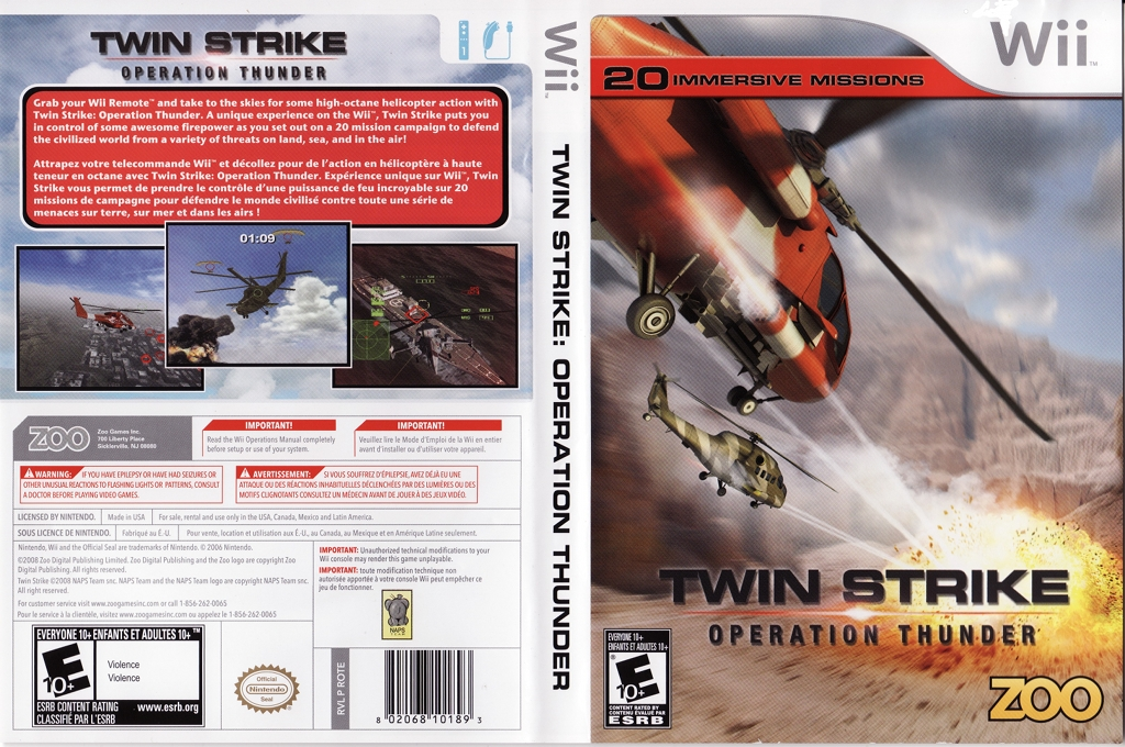 Twin Strike: Operation Thunder Wii coverfullHQ (ROTE20)