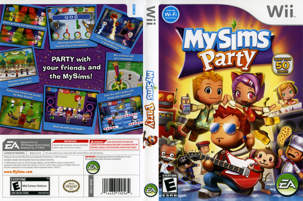 MySims Party Wii coverfullHQ (RP4E69)