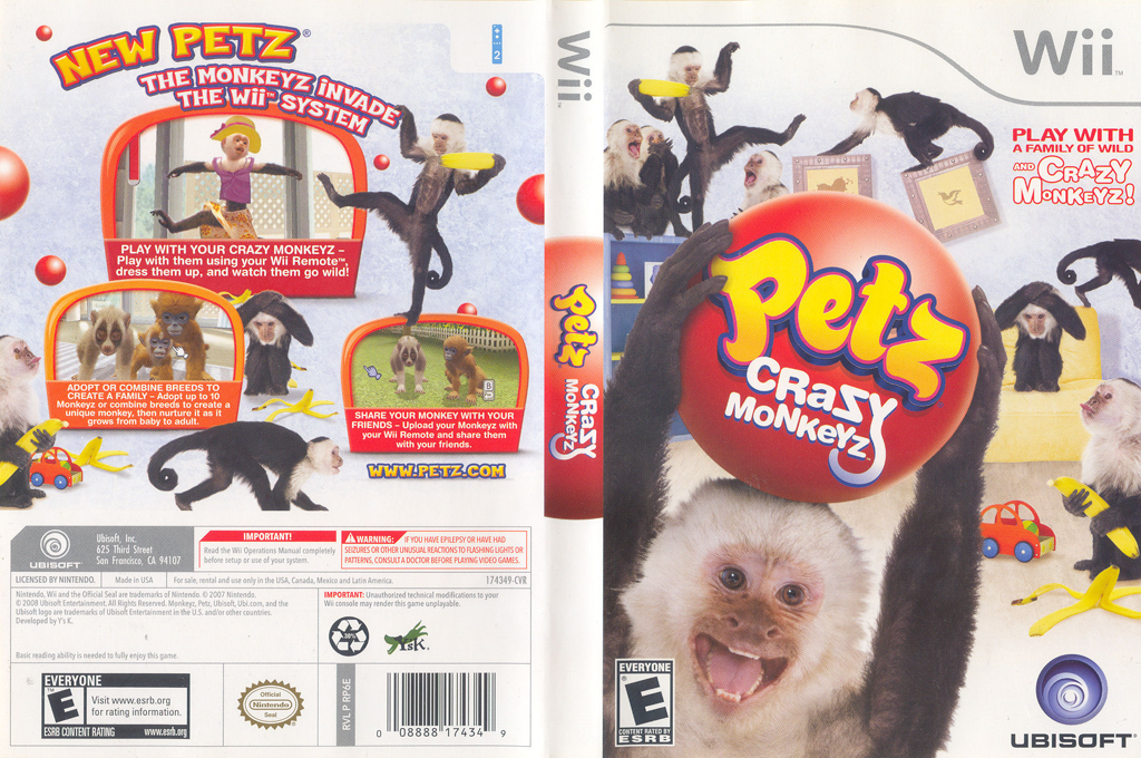 Petz Crazy Monkeyz Wii coverfullHQ (RP6E41)