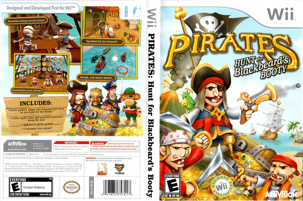 Pirates: Hunt for Blackbeard's Booty Wii coverfullHQ (RP7E52)