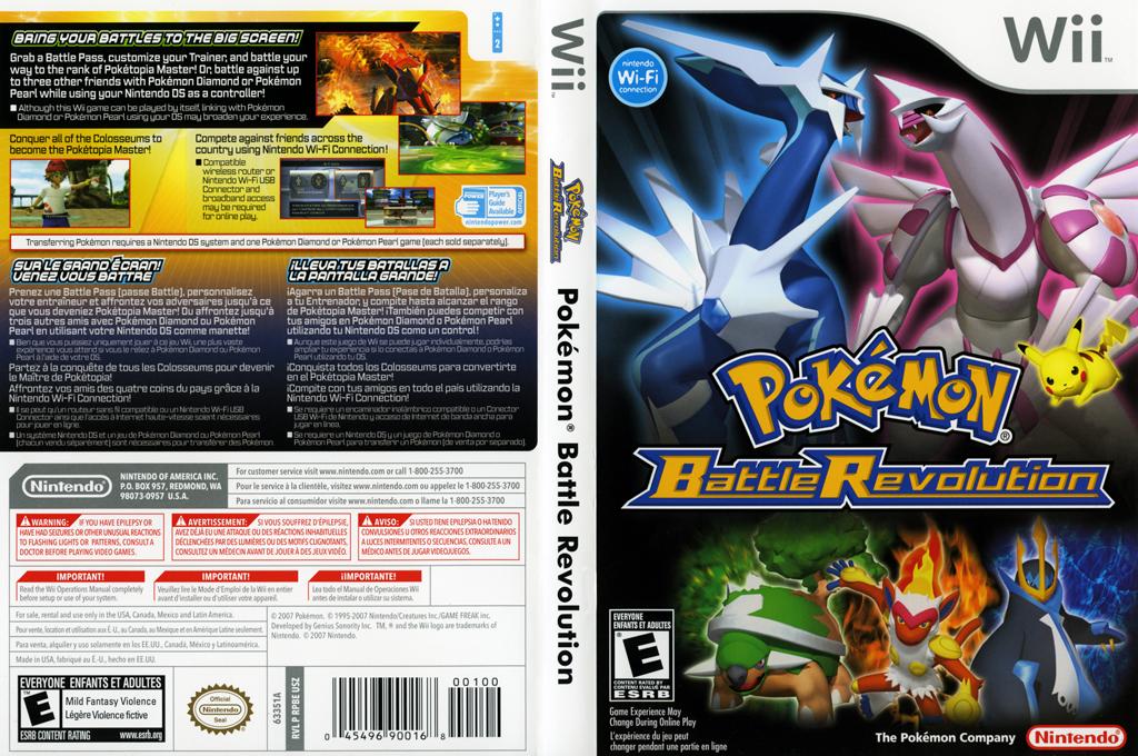 Pokémon Battle Revolution Wii coverfullHQ (RPBE01)