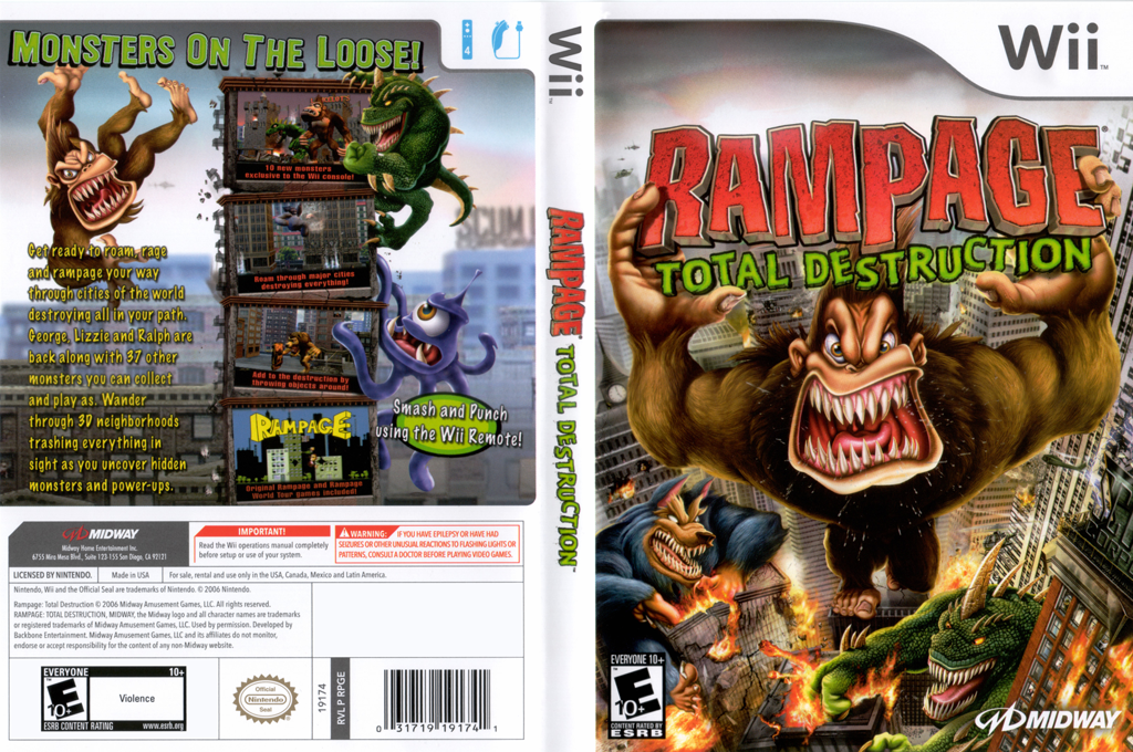 Rampage: Total Destruction Wii coverfullHQ (RPGE5D)