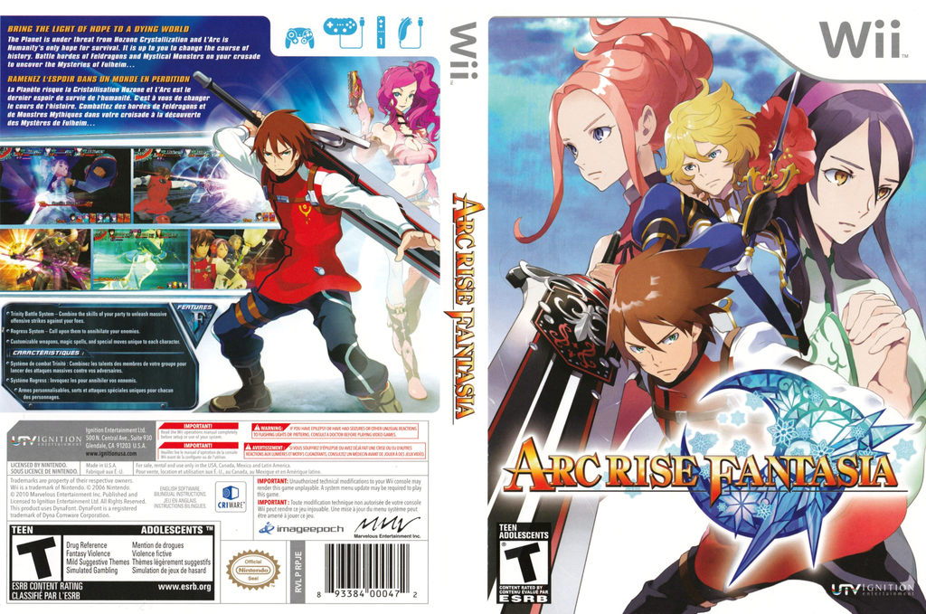Arc Rise Fantasia Wii coverfullHQ (RPJE7U)