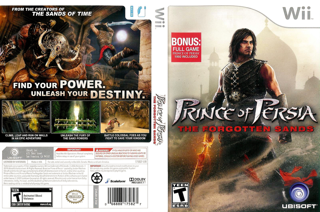 Prince of Persia: The Forgotten Sands Wii coverfullHQ (RPWZ41)