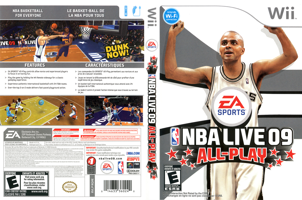 NBA Live 09 All-Play Wii coverfullHQ (RQ9E69)