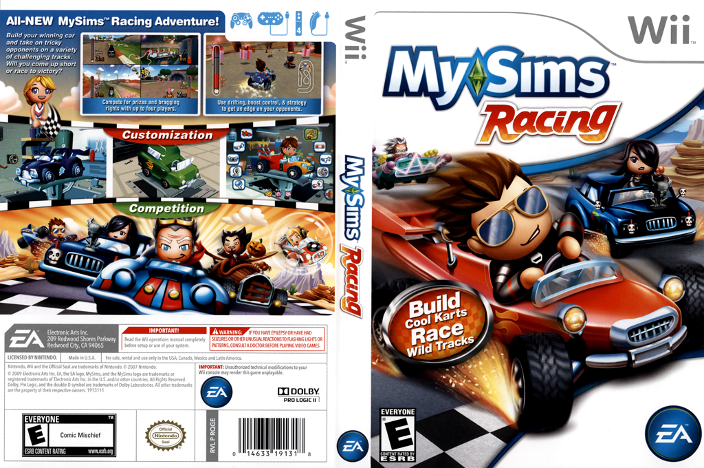 MySims Racing Wii coverfullHQ (RQGE69)
